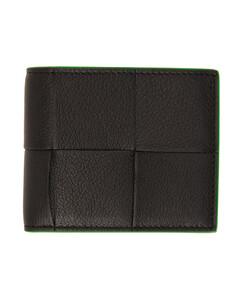黑色Intrecciato可收纳式行李包