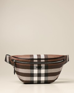belt bag in check pattern E-canvas