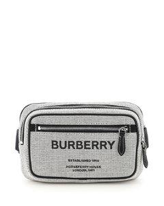 灰色皮革行李包