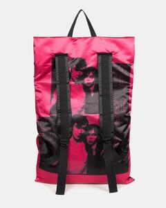 Men's X Raf Simons Poster Satin Backpack - Black
