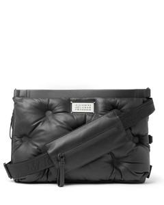 Logo-Appliquéd Quilted Leather Messenger Bag