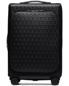black Gancini carry-on suitcase