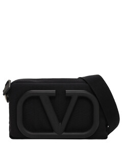 V Nylon Mini Cross Body Bag