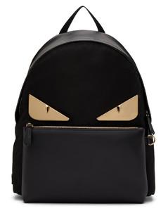 黑色Bag Bugs皮革双肩包