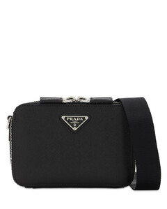 Logo Saffiano Leather Camera Bag