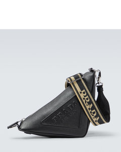 Nylon Logo Crossbody Bag With Small Pouch