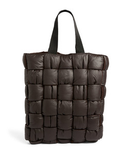 Leather Padded Intrecciato Tote Bag