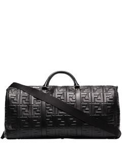 logo-embossed holdall bag