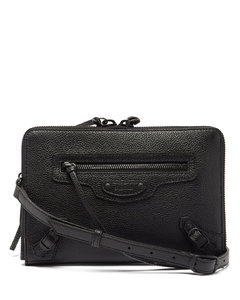 Neo Classic City grained-leather pouch