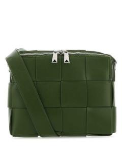 黑色Gucci Signature Weekender行李包
