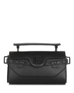 Logo-print leather backpack