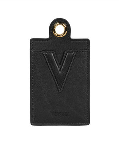 Logo-print faux-leather cross-body pouch
