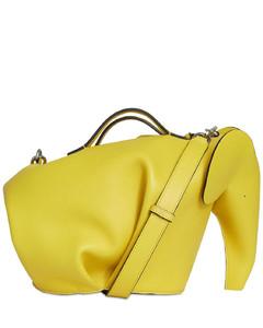 Elephant Leather & Cotton Large Bag
