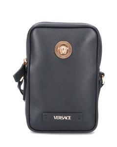 Saffiano leather suitcase