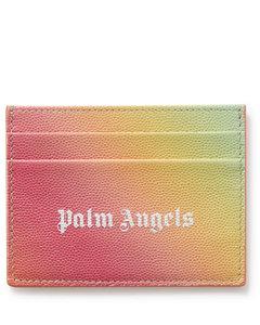 leather belt bag with all-over multicolor VLTN logo