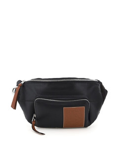 PUFFY BELT BAG IN NAPPA AND FABRIC