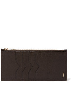 Pebble-Grain Leather Zipped Cardholder