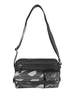 Nylon Crossbody Bag W/logo Patch