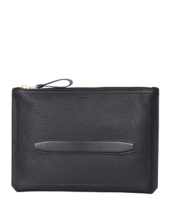 Leather duffle bag with crocodile effect