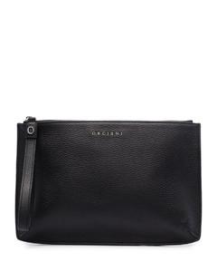 Saffiano leather briefcase
