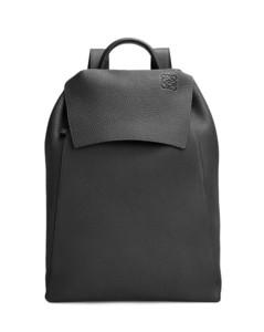 Drawstring Backpack in grained calfskin