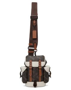 black belt bag in polyamide with logo.