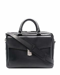 Brand-embossed zipped nylon messenger bag