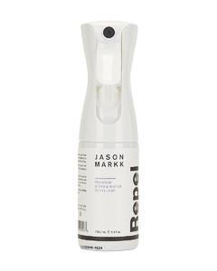 Branded shoulder bag in black