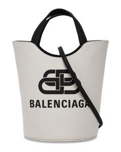 Wave Tote Handbag in Canvas with Logo