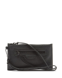 Neo Classic small grained-leather pouch