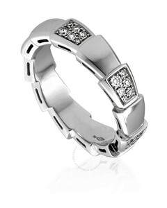 Serpenti Viper 18k Rose Gold 0.43 CT Diamond Ring