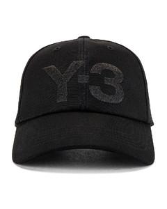 Yohji Yamamoto Classic Logo Cap in Black