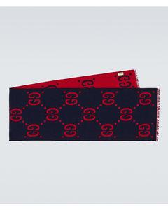 GG提花羊毛真丝围巾