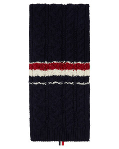 海军蓝Funmix RWB Stripe围巾