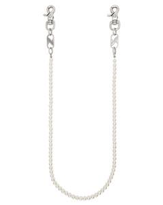 灰白色珍珠钥匙扣