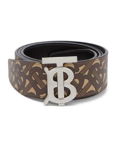 TB-monogram leather belt