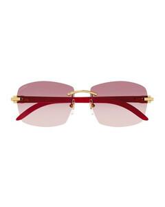 金色Coral Crucifix胸针