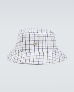 geometric-print head scarf