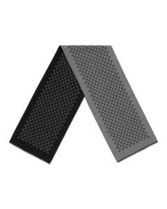 黑色&白色印花皮革手套