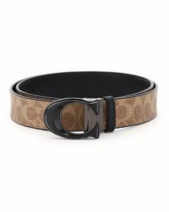 Belts Coach for Men Khaki Blac
