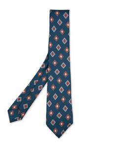 星星&骷髅印花真丝领带