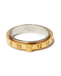 Number-engraved dual-band sterling silver ring