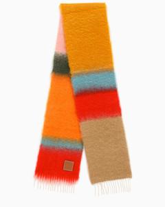 Pink/Orange colour-block scarf