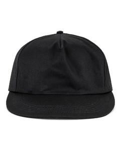 5 Panel Hat in Black