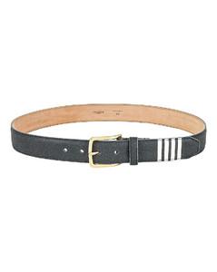 Classic Belt with 4 Bar Stripe in Light Grey