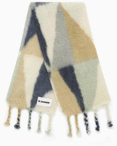 Colour-block print scarf