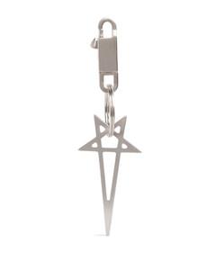 Geometric-pattern silk tie