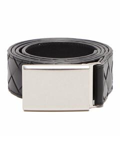 Intrecciato-leather belt