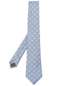 Bas Relief silver-tone orb necklace