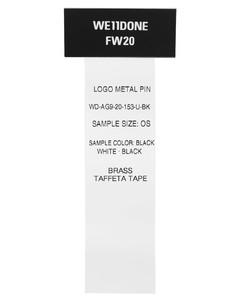 黑色Metal Logo胸针